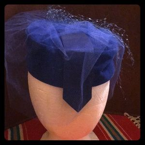 Vintage Cobalt Blue Christine Original Hat